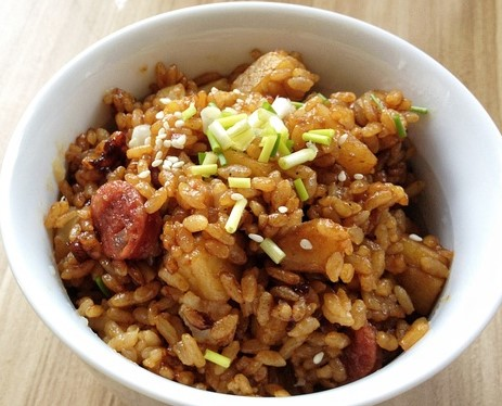 Potato Sausage with Rice