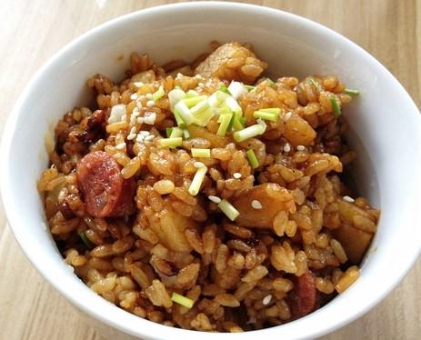 Potato Sausage with Rice