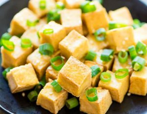 Fried Tofu with green onion