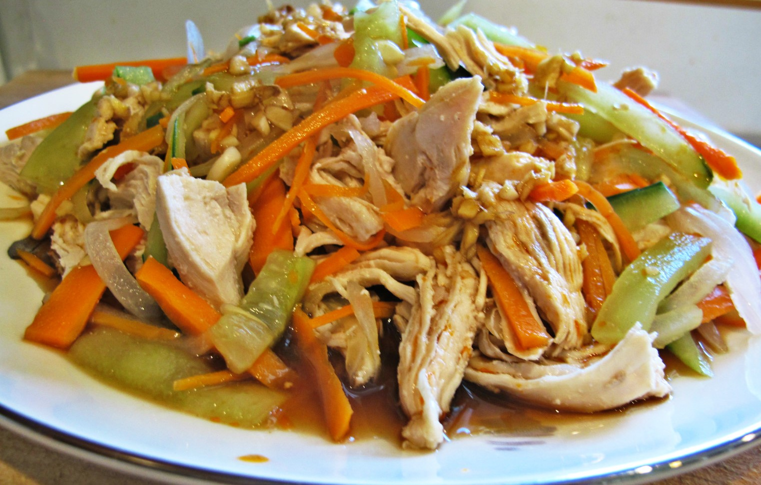 Cool chicken with Mixed Vegetables