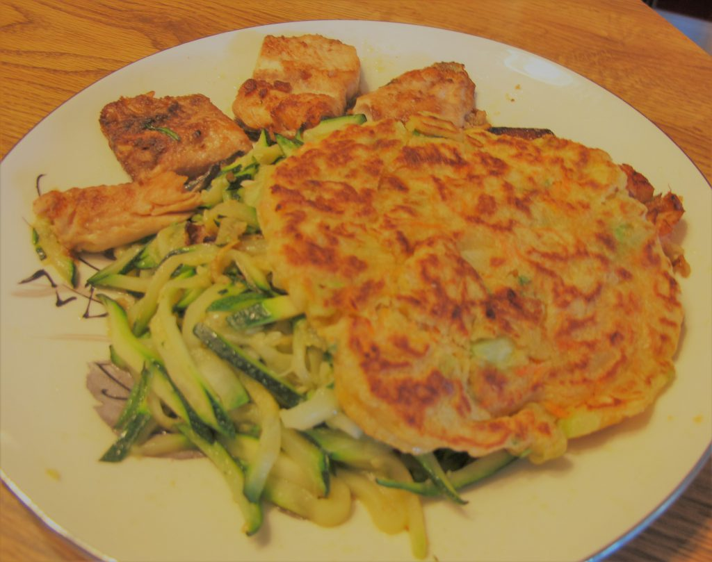 Fried Fish and Zucchini Meal plate