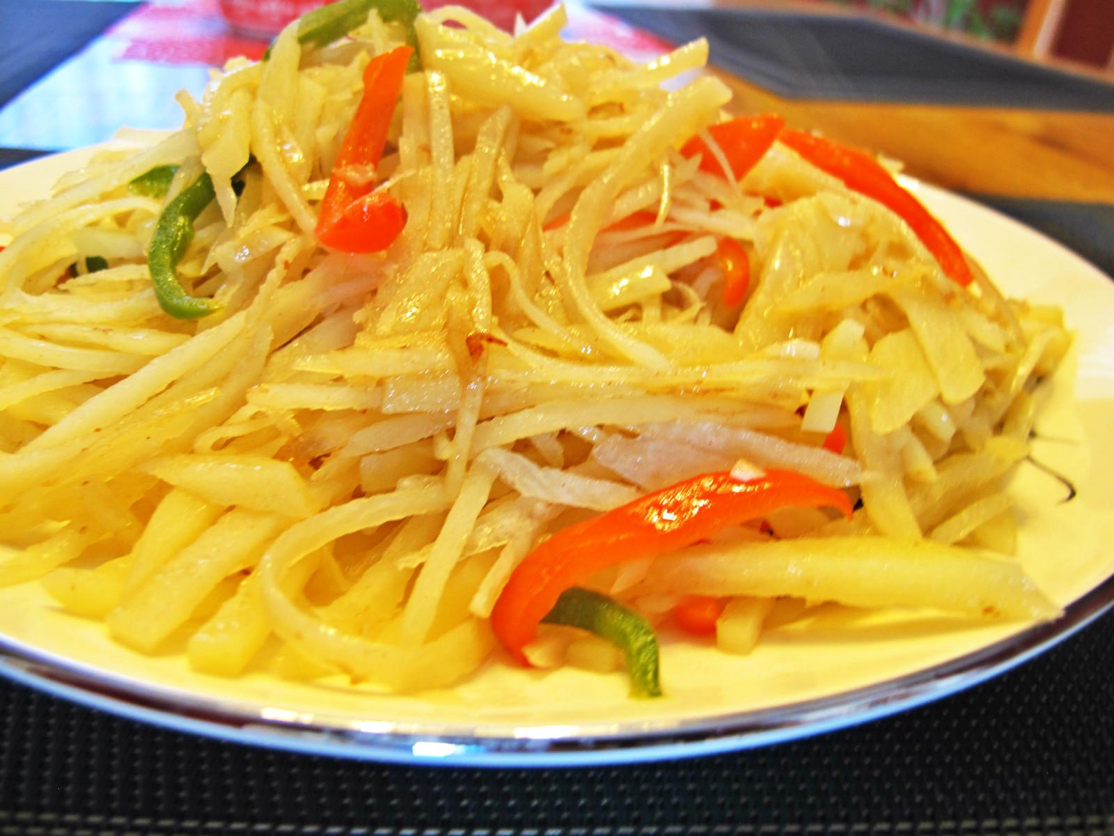 cooked potato floss