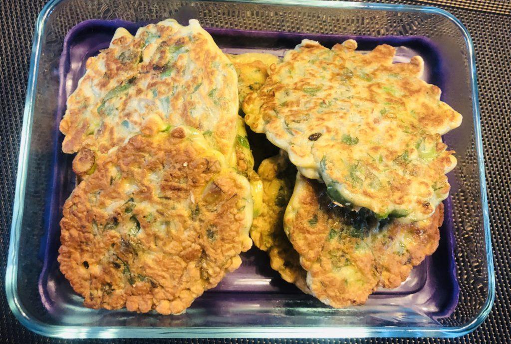 Cooked Purslane Pancakes